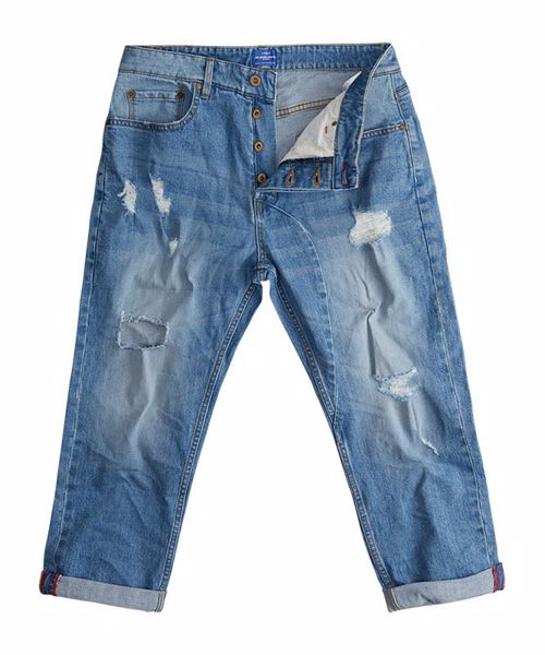 SOLID FRANK CROP JEANS